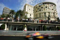 Monaco fans watch the race