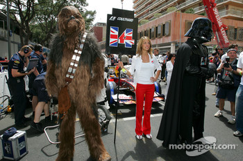 Chewbacca and Darth Vader on the starting grid