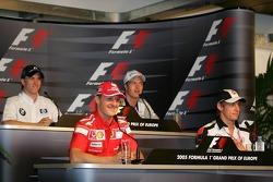 FIA Thursday press conference: Nick Heidfeld, Ralf Schumacher, Michael Schumacher and Jenson Button