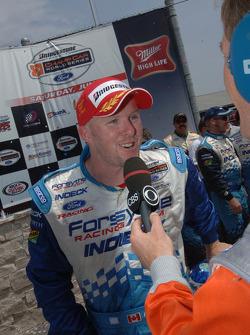 Interview for race winner Paul Tracy