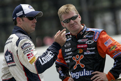 Jimmie Johnson and Jeff Burton