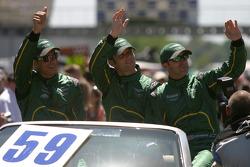 Stephane Sarrazin, Darren Turner and David Brabham