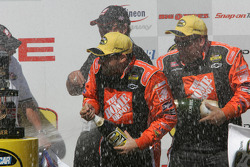 Victory lane: champagne for Tony Stewart