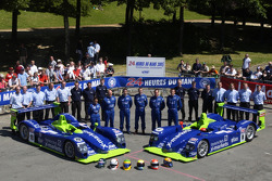 #18 and #8 Rollcentre Racing Dallara Judd: Martin Short, Joao Barbosa, Vanina Ickx, Michael Krumm, Harold Primat, Bobby Verdon-Roe and team