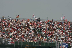 A large crowd at Silverstone