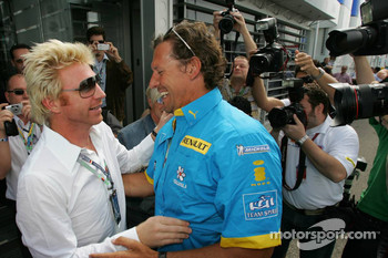 Boris Becker and actor Ralf Möller