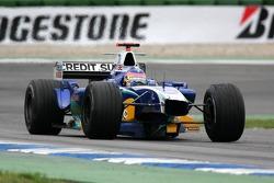 Jacques Villeneuve with no front wing
