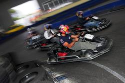 Red Bull Petit Prix in Manheim: Vitantonio Liuzzi and Sebastian Vettel