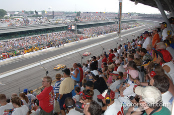 Indy fans watch the race