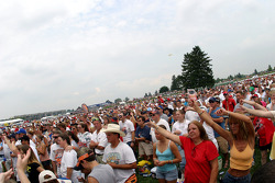 Fans watch live entertainment