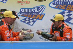 Victory lane: champagne celebration