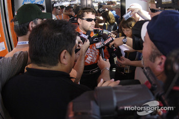 Tony Stewart meets the media