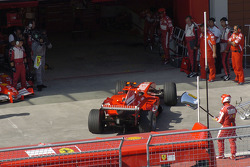 End of the day for Michael Schumacher