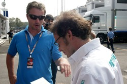 Eddie Irvine and Jacques Villeneuve