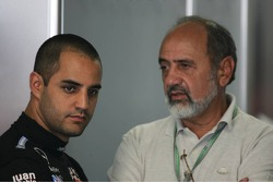 Juan Pablo Montoya with his father Pablo