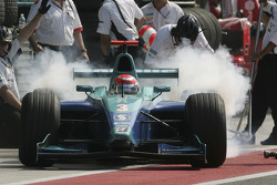 Pitstop practice for Nelson A. Piquet