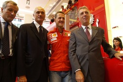 Ferrari store in Milan: Michael Schumacher and Piero Ferrari