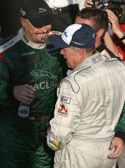 Race winner and 2005 champion Klaus Graf celebrates with Paul Gentilozzi and Greg Pickett