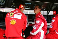 Michael Schumacher with Chris Dyer