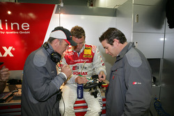 Dr Wolfgang Ullrich, Tom Kristensen and Franco Chiocchetti