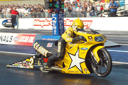 Angelle Savoie taking the win in Pro Stock Motorcycle