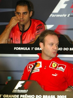 FIA press conference: Juan Pablo Montoya and Rubens Barrichello