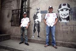 Visit of Buenos Aires, Argentina: Takuma Sato and Enrique Bernoldi