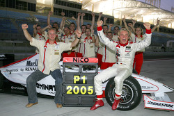 2005 GP2 Series champion Nico Rosberg celebrates
