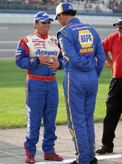 Mike Skinner and Michael Waltrip