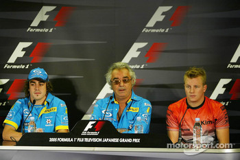 Thursday FIA press conference: Fernando Alonso, Flavio Briatore and Kimi Raikkonen