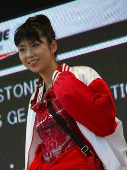Lovely Bridgestone girls parade at the pre-race fashion show