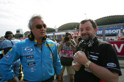 Flavio Briatore and Paul Stoddart