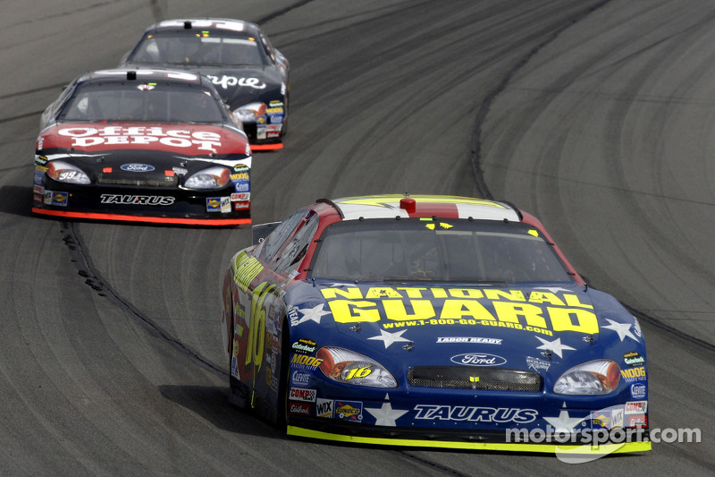 Greg Biffle, Carl Edwards and Kurt Busch