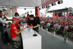 Ferrari fans event: Michael Schumacher signs autographs