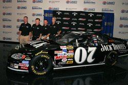 Richard Childress Racing press conference: Clint Bowyer and Richard Childress pose with the 07 Jack Daniel's Chevrolet