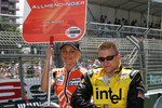 Drivers parade: A.J. Allmendinger
