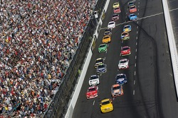 Pace car leads the field for the start of the Subway 500
