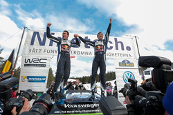 First place Sebastien Ogier and Julien Ingrassia, Volkswagen Polo WRC, Volkswagen Motorsport