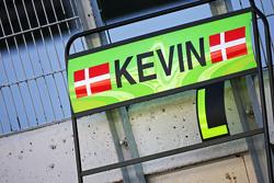 Pitbord voor Kevin Magnussen, McLaren test- en reservecoureur