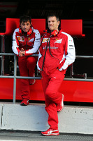 (L to R): Toni Cuquerella, Ferrari Lead Engineer with James Allison, Ferrari Chassis Technical Director