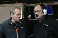 (L to R): Andrew Green, Sahara Force India F1 Team Technical Director with Tom McCullough, Sahara Force India F1 Team Chief Engineer