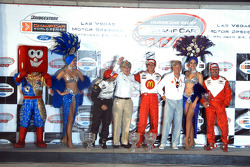 Carl Haas and Paul Newman join Sebastien Bourdais, Oriol Servia and Jimmy Vasser on podium