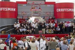 Craftsman Truck Series 2005 champion Ted Musgrave celebrates