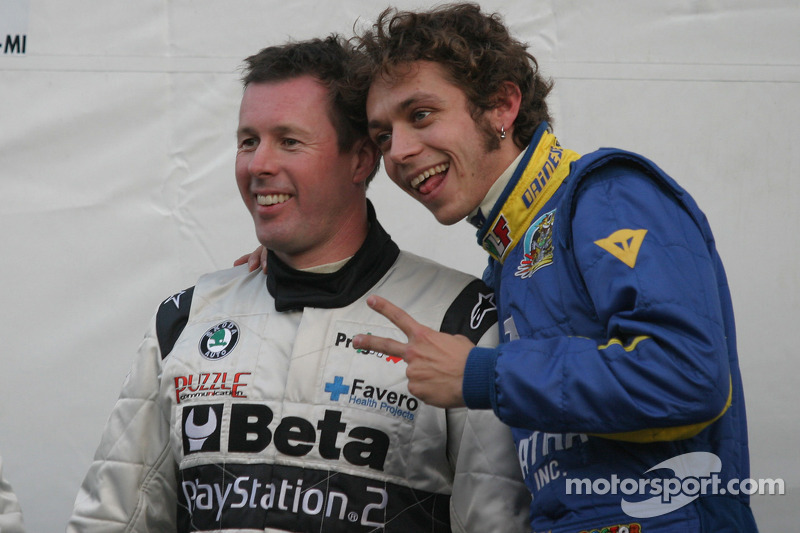 valentino rossi and colin mcrae at monza rally show. Black Bedroom Furniture Sets. Home Design Ideas