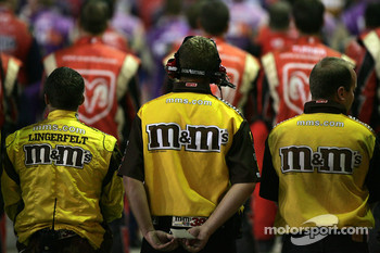 M&M's crew members during National Anthem