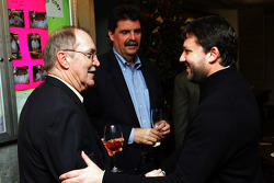 Tony Stewart with NASCAR President Mike Helton and NASCAR Vice President of Communications Jim Hunter prior to dinner on Sunday night at the Waldorf-Astoria