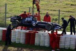 Car of Nico Rosberg after his drive in the gravel