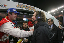 Race of Champions winner Sébastien Loeb with Fredrik Johnsson