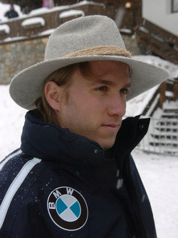 Nick Heidfeld BMW WilliamsF1 Team driver 2005 in the snow
