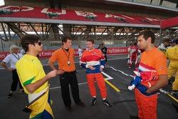 Nelson A. Piquet, Jos Verstappen and Jeroen Bleekemolen at the photoshoot